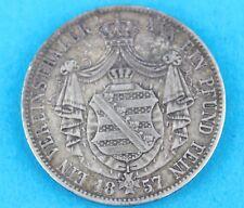 Ein Vereinsthaler XXX Ein Pfund Fein 1857 Silber Johann V.G.G.König von Sachsen