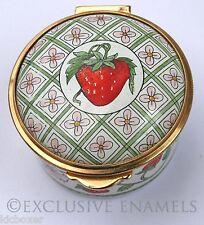 Staffordshire Enamels Art Nouveau Style Strawberry Design Enamel Box