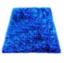 Soft Shaggy Faux Fur Area Rug Throw Accent Play Plush ROYAL BLUE  Rectangle 5x10