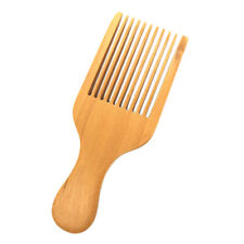Afro Hair Pick Lift Styling Comb Wooden Massage Detangling Wide Tooth Comb