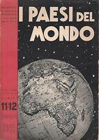 Bollettino R. Società geografica italiana 1939 n. 11-12 I paesi del mondo 4169