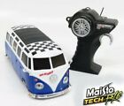 "New Maisto Tech R/C 1:24 Volkswagen Van ""Samba"" Remote Control Car Blue/White"