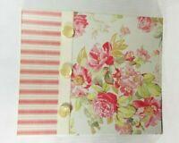 Hallmark Large Photo Album Self Adhesive Pages Pink Roses Button Velvet Ribbon
