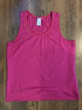 ADIDAS PINK CLIMALITE SINGLET SIZE XL AS NEW TANK TOP FITNESS