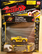 RC Pocket Racers Remote Control Car: Yellow/Fury