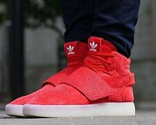 Adidas Originals Tubular Invader Strap Casual Shoes Red Suede BB5039 Men's New