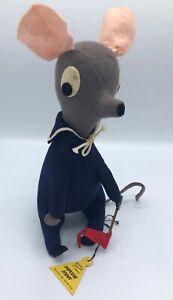 "Vintage Frances Glencott Original Impulse Item Stuffed ""Middy Mouse"" Doll"