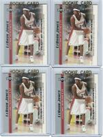 x4 LEBRON JAMES 2003-04 Upper Deck Rookie Card lot/set Mint! Gold Top Loader #17