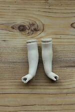 Paar antike alte Puppen Porzellanhände mit Finger 9 cm