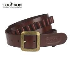 Tourbon Patronengürtel Echt Leder Munitions Gürtel für 9mm/.38 Patronen 2 Größe