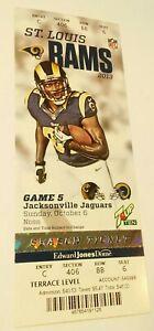 2013 Jacksonville Jaguars St. Louis Rams NFL Football Ticket Stub Los Angeles