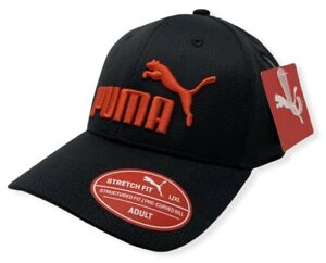 Puma Men's Performance Mesh Embroidered Stretch Fit Hat Cap