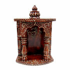 Mandir Pooja Ghar for Hawan Wooden Handcrafted Hindu Temple Handmade Decor Home