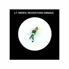 LT. GREEN  Rhinestone RIBBON  Nail Art Dangle Jewelry
