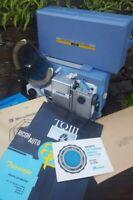 Vintage Ricoh Auto 8P Trioscope Movie TQIII, 8mm Filmosound Projector