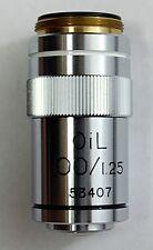 100X OIL IMMERSION NORMAL BRIGHTFIELD MICROSCOPE OBJECTIVE (ID259)