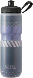 Polar Insulated Water Bottle Bike 24oz BPA Free Charcoal/Pink