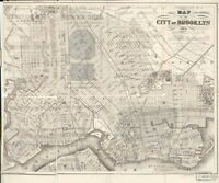 1864 Map of the city of Brooklyn | Administrative and Political Divisions | Broo