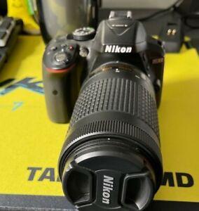 Nikon D5300 DSLR Camera With 18-55mm and 70-300mm Lenses Kit - Black