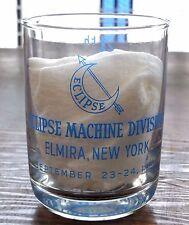 Vintage Bendix Aviation Corp 1954 Libbey Drinking Glass Elmira New York Eclipse