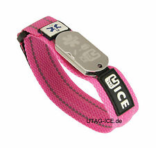 SOS Armband mit USB - Stick und Notfall - Software  pink  UTAG ICE