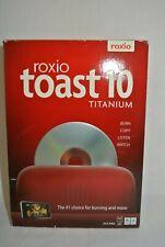 New-Roxio Toast 10 Titanium for Mac Burn Copy Listen Watch  - Free Shipping-