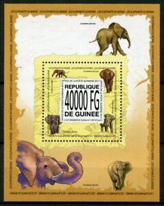 Guinea Wild Animals Stamps 2013 MNH Elephants Elephant Fauna 1v S/S