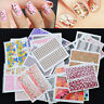 Set 10 pcs Decal Water Transfer Manicure Nail Art Stickers DIY Tips Decor BH