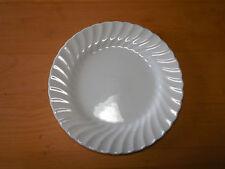 "Johnson Bros England REGENCY Set of 4 Round Salad Plates 7 3/4"" White Swirl A"