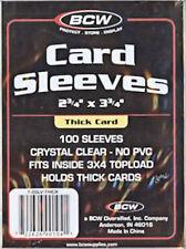 50 Individual Thick Card Sleeves BCW No PVC