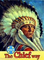 1930s The Chief Way New Mexico Vintage Railroad Travel Advertisement Art Poster