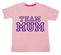 "Dirty Fingers Child's T-Shirt Boys Girls Top ""Team Mum"" Mummy Mother's Day"