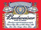 Budweiser Label Steel Wall Sign (ga)
