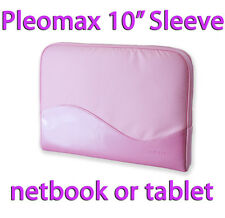 """SAMSUNG 10"""" INCH NETBOOK TABLET PASTEL PINK NYLON FAUX LEATHER CASE BAG SLEEVE"""
