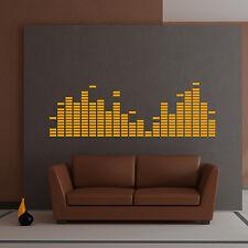 Wandtattoo Equalizer DJ Disco Lounge Musik Aufkleber Wall Art Wand Tattoo #2026