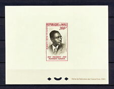 DELUXE 173 MALI 1961 PRESIDENT POLITICAN PROOF IMPERF MNH