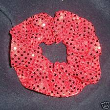 1 red Sequin hair scrunchie,stage,dance, xmas partys