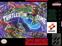 TMNT: Turtles in Time SNES Super Nintendo USA NTSC 16bit 46pin (Game Card)