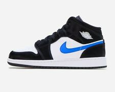 NEW Nike Air Jordan 1 Mid GS Black/Racer Blue 554725 084 Youth Sizes IN HAND!!