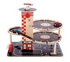 E3002 Hape Wooden Park & Go Garage Playscapes Toddler Children Age 3yrs 4pcs