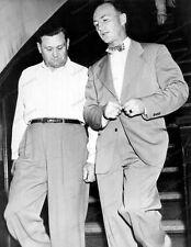 8x10 Print Criminal History Bugs Malone Prohibition FBI Robbery 1946 #BM925