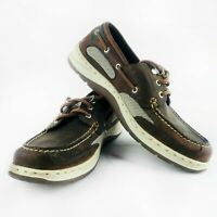 Sebago Men's Clovehitch II Men's Dark Taupe/Dark Brown Boat Shoe 8M (B24367)