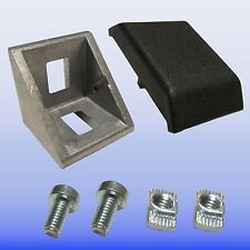 Winkel 30 Nut 8 Bosch Raster mit Bef. u. Abdeckkappe - Aluminium Profi 30 Nut 8