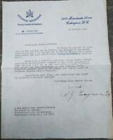 1946 219) WASHINGTON LETTERA CARDINALE DI BRISIGHELLA AMLETO GIOVANNI CICOGNANI