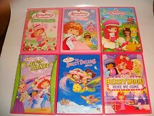 LOT (6) STRAWBERRY SHORTCAKE DVDS WITH TWO MOVIES SWEET DREAMS SKY'S THE LIMIT