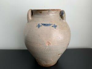 Antique Ovoid Incised Stoneware Crock Jar Vessel - FREDERICK CARPENTER - BOSTON?