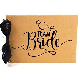 Ribbon, Team Bride, Photo Album, Scrapbook, Blank White Pages, A5