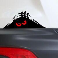1x Cool Monster Red Eyes Peeper Car PET Sticker Bumper Window Decal Body Panel