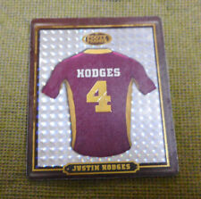 #AA.  2009  BRISBANE BRONCOS  RUGBY LEAGUE FOOTY FRAME TAZO  #2  JUSTIN HODGES