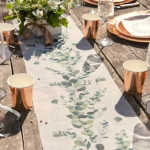 Botanical Table Runner | Wedding Party Green Floral Decorations 5m